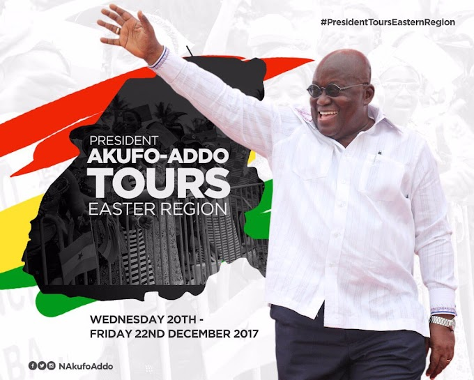 Nana Addo tours Eastern Region today