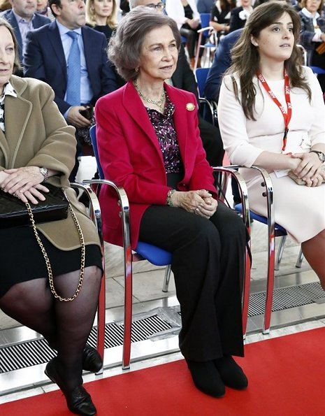Queen Sofia of Spain attended the opening of the 23rd Diplomatic Charity Bazaar organized by AECID at the Municipal Conference Centre in Madrid