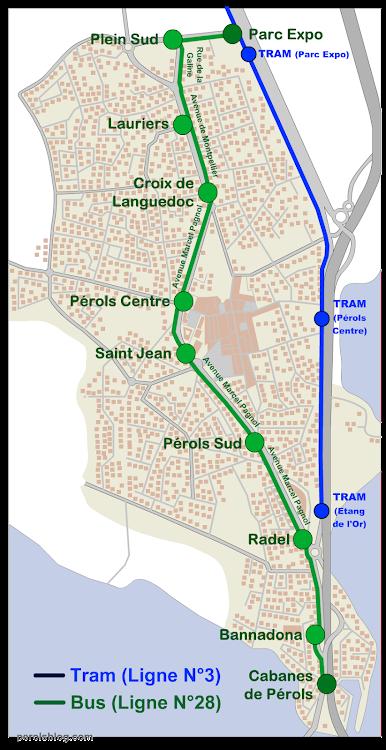 Ligne 28 à Pérols