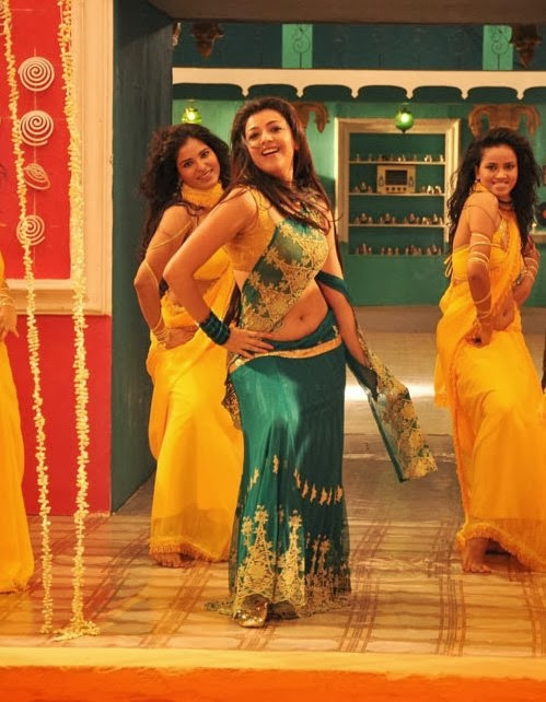 Kajal Agarwal Latest Hot Navel Show Photos From All in All Azhagu Raja Movie