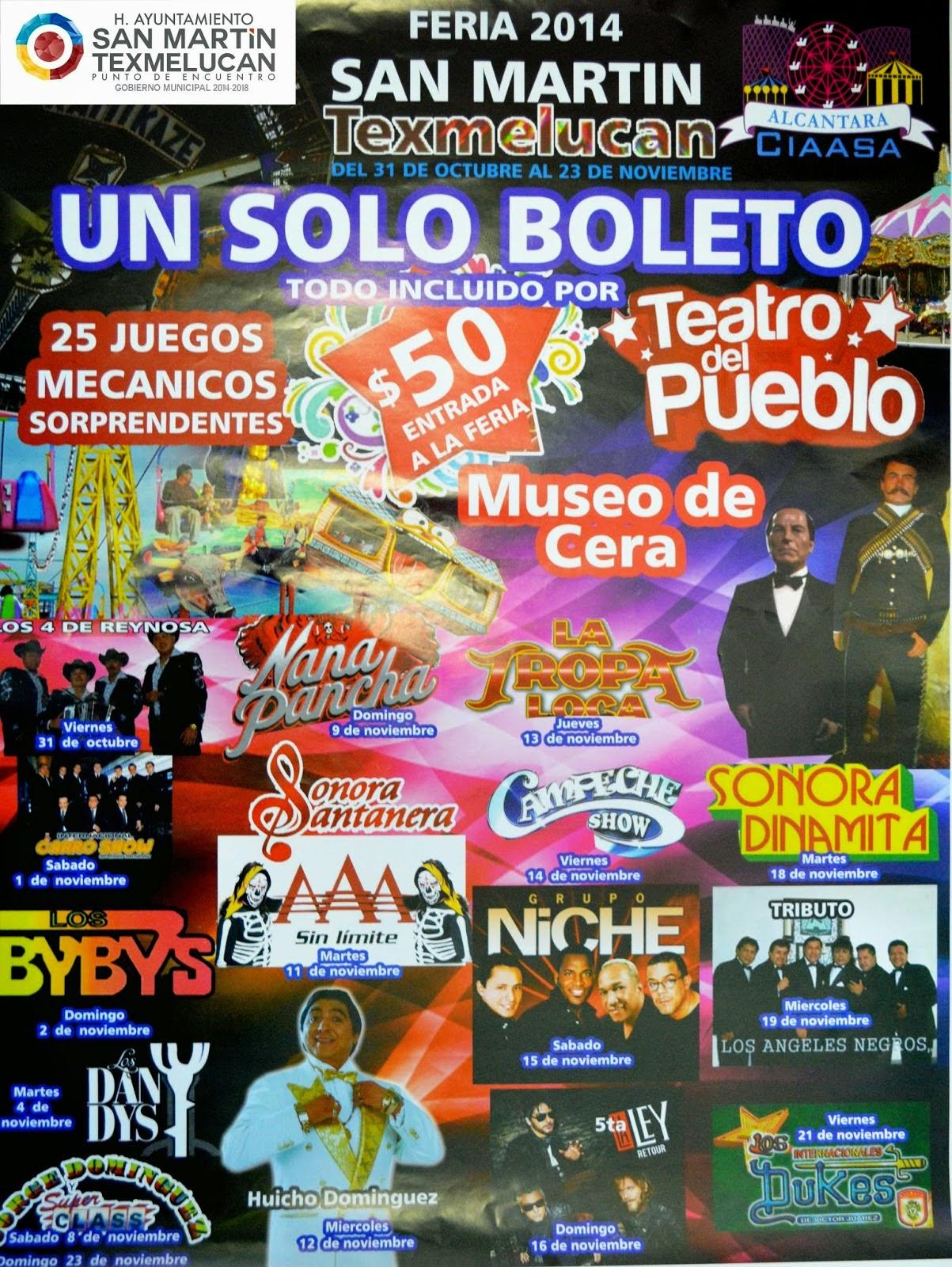 Feria San Marín Texmelucan 2014