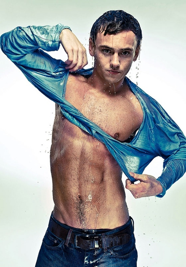 Tom Daley Wet and Shirtless