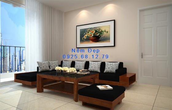 bọc nệm ghế sofa gỗ 11