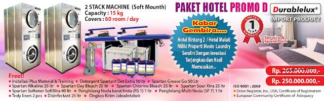 PROMO-PAKET-HOTEL-D3 Menyediakan Kredit Usaha Laundry Hotel dan Laundry Rumah Sakit