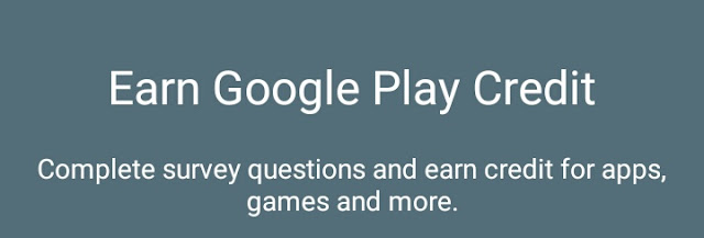Credits, Google opinion rewards