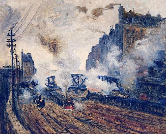Monet et la Gare Saint Lazare 12%2BLa%2BTranche%25CC%2581e%2Bdes%2BBatignolles%2BClaude%2BMonet%2B1877