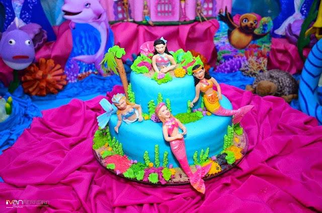 Bolo Barbie Sereia