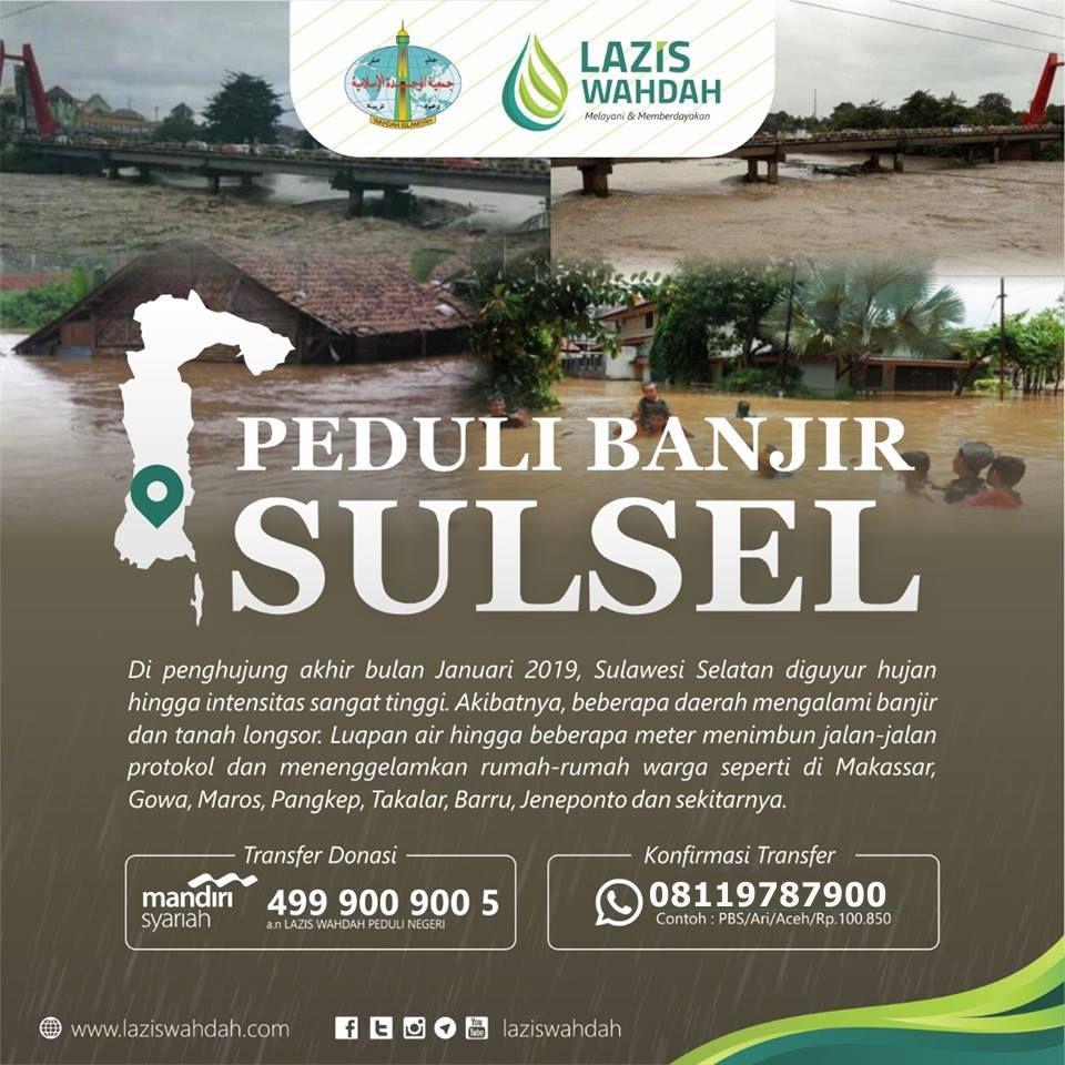 Peduli Bencana Banjir Sulsel