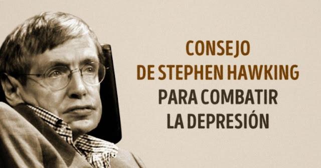 Excelente consejo de Stephen Hawking para aquellos que quieren combatir la depresión