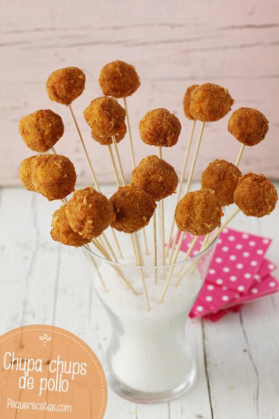 Chupa chups de pollo para una celebración infantil