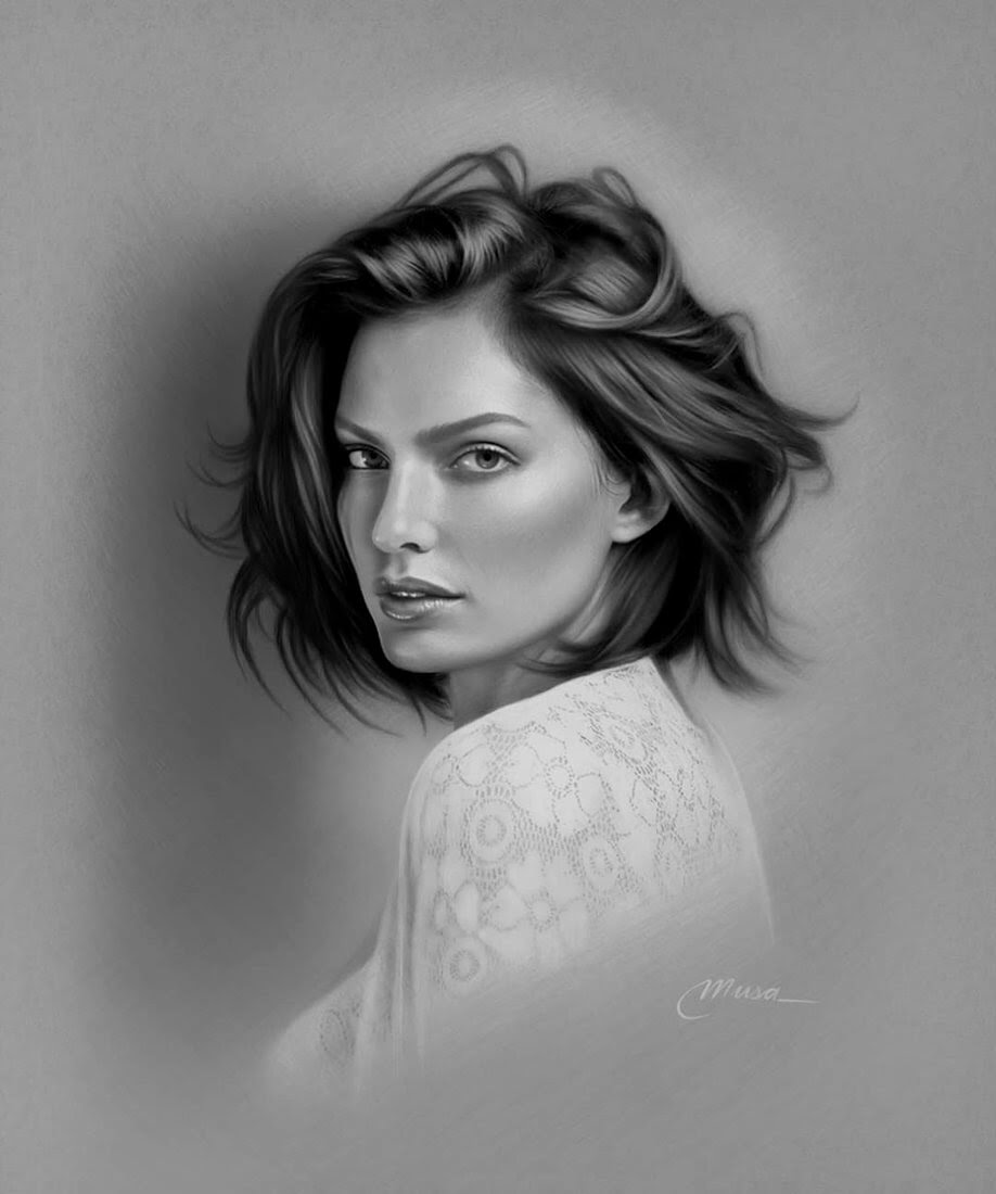 10-Musa-Çelik-11-B&W-and-2-Color-Pencil-Drawings-www-designstack-co