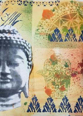 Lesta Frank: Art Journaling with StencilGirl® Stencils