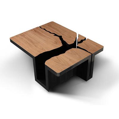 mesa estilo de arbol