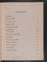 A table of contents.