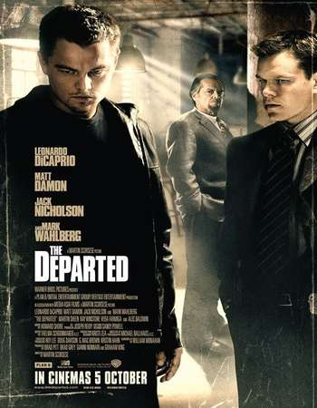 Poster Of The Departed 2006 Dual Audio 720p BRRip [Hindi - English] ESubs Free Download Watch Online Worldfree4u