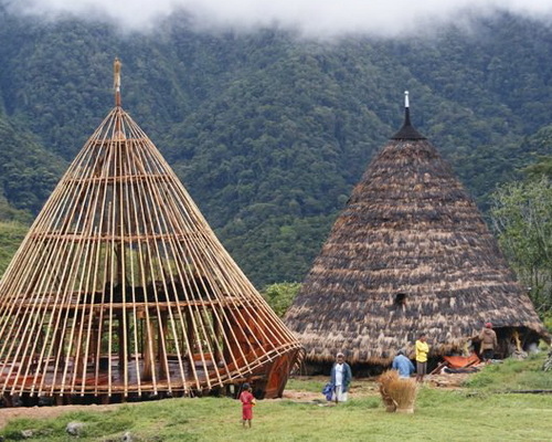 Travel.Tinuku.com Wae Rebo village, seven Mbaru Niang mysterious house in highlands Flores island as UNESCO cultural heritage