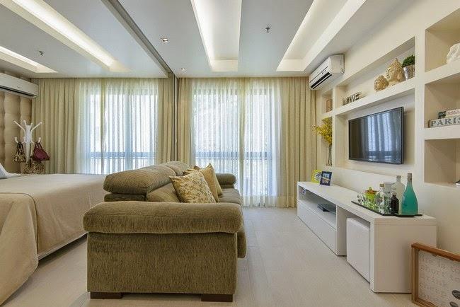 Marzua un apartamento de 45 metros cuadrados muy femenino - Pisos bien decorados ...