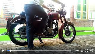 LAPAK MOTOR TUA : Dijual Motor BSA Tua Mesin Kering