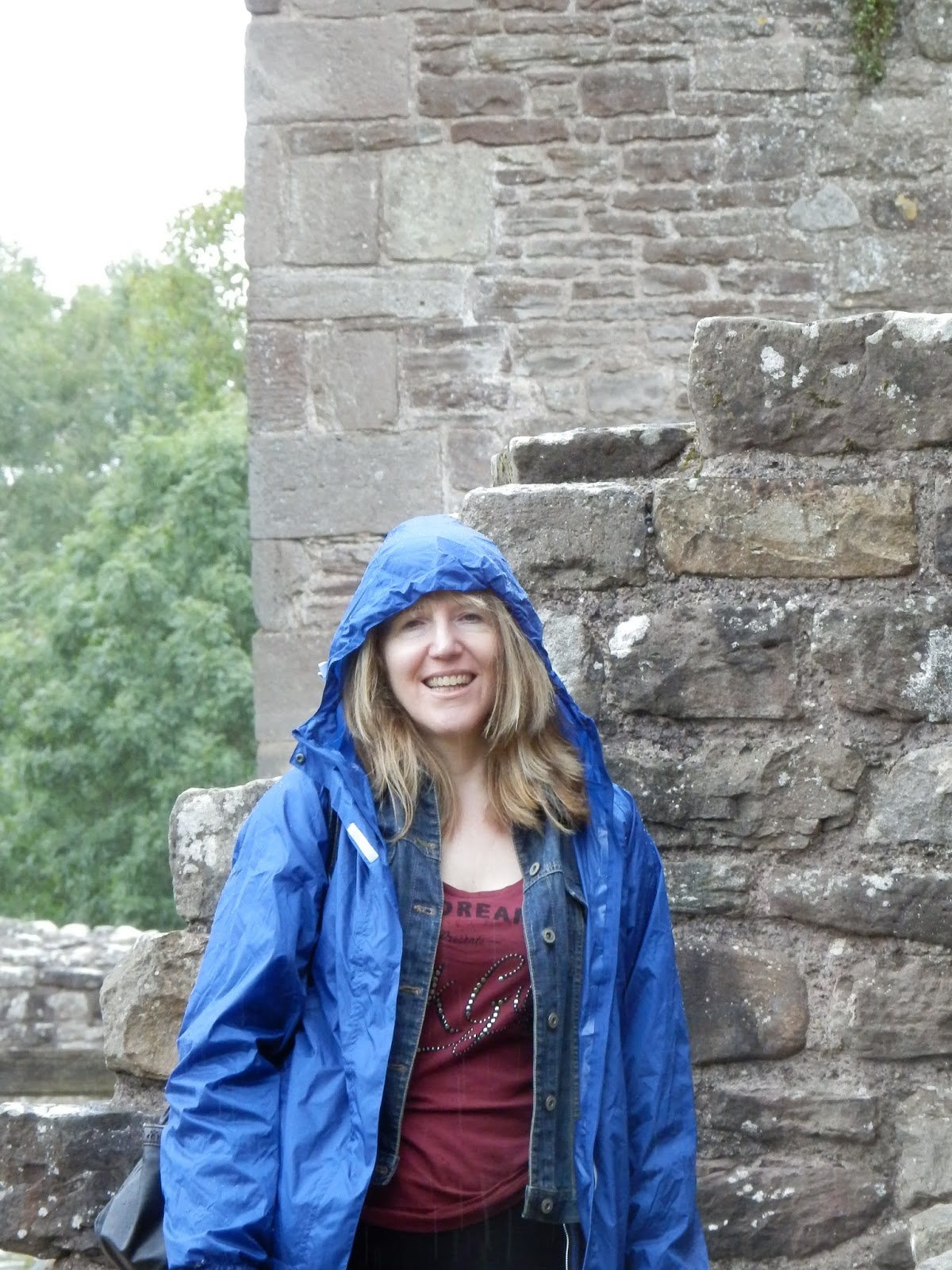 Linda Hobbis at Raglan Castle