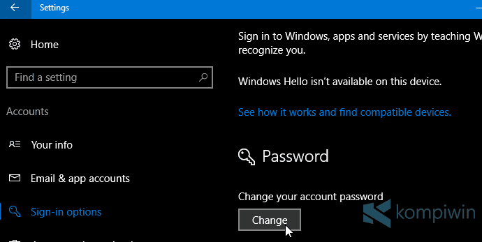 cara ganti password microsoft account