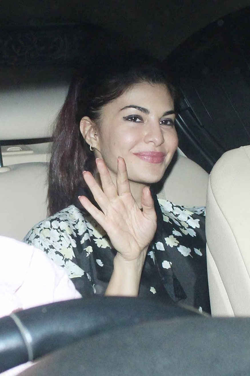 Sonakshi Sinha and Jacqueline at Salman Khan's Eid Party at His Residence In Bandra