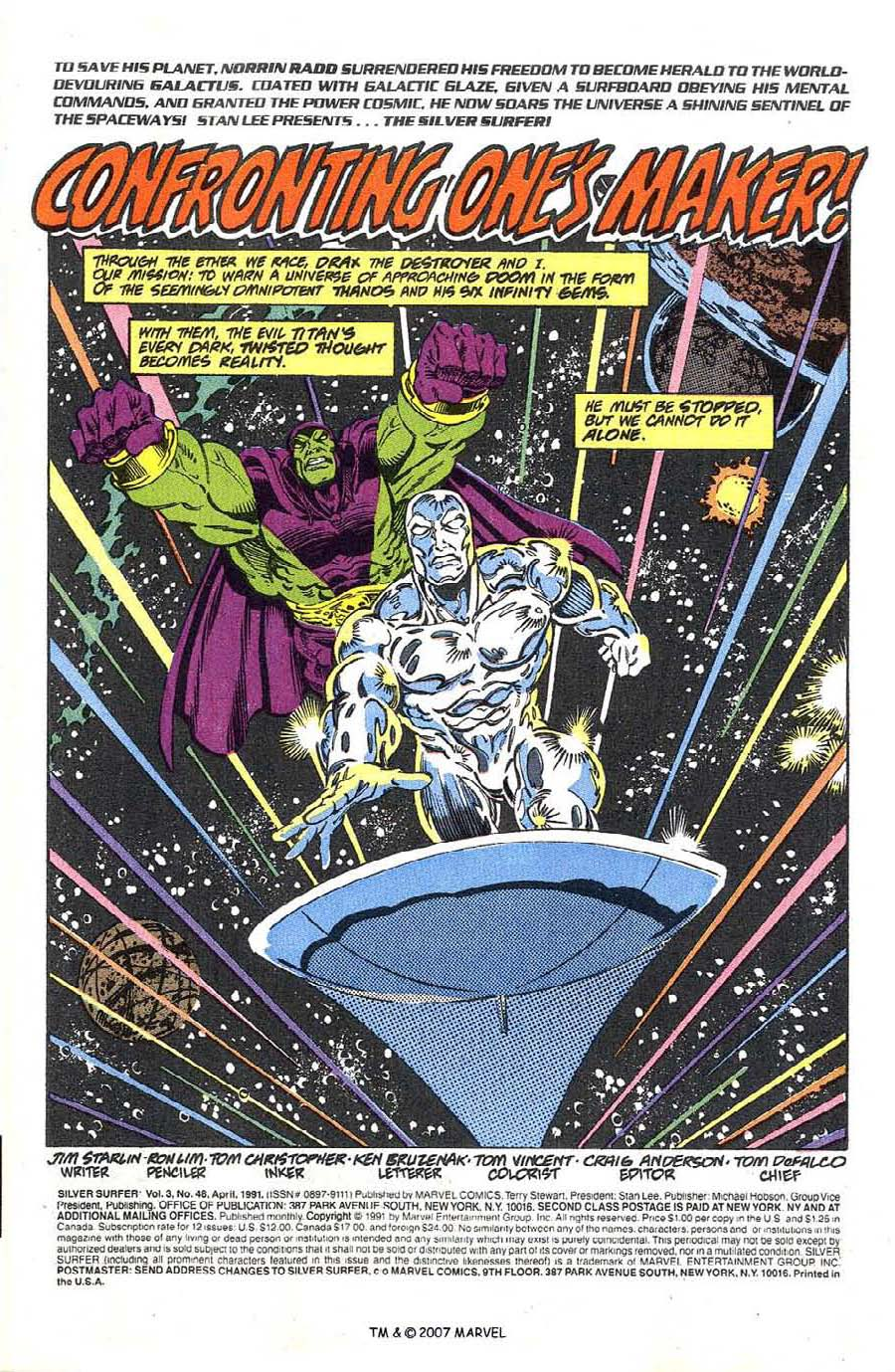 Read online Silver Surfer (1987) comic -  Issue #48 - 3