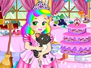 Something magical happened and cute Baby Juliet transformed in a beautiful princess. Princess Juliet has also some new friends that will help her in her new adventure. A big party will take place at the castle and Juliet needs to get ready. Let us help her catch her cats so they don t ruin her party. Oh no! one of the cats escaped and made a big mess in the party hall. Help Juliet clean the place and bake a new delicious cake in stead of the one that got ruined. When the hard work is done, dress up princess Juliet. Have fun!