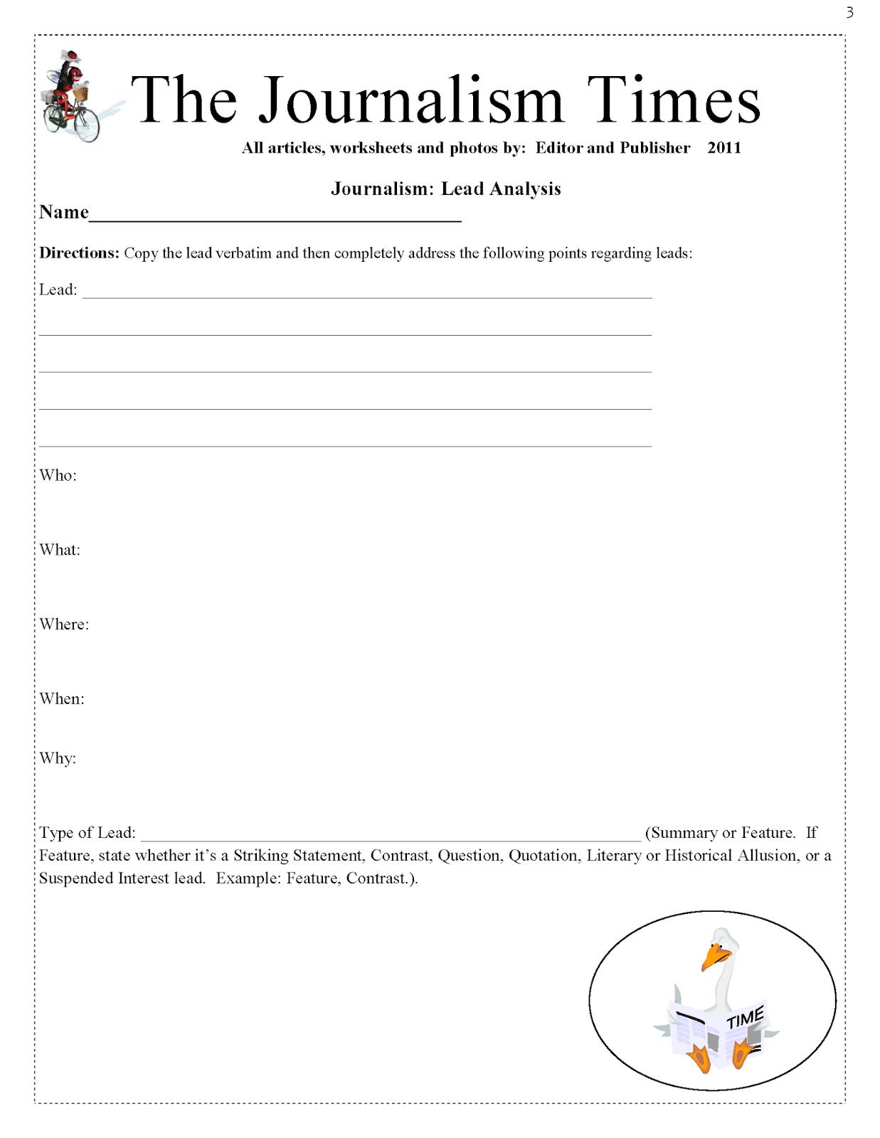 Testing Lead Worksheet