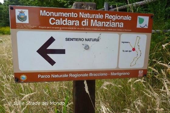 Sentiero natura alla Caldara di Manziana