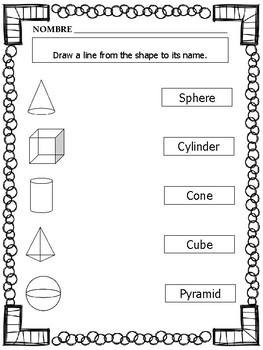2 D And 3 D Shapes Worksheets Kindergarten