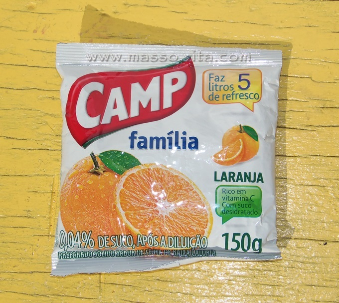 Refresco em pó Camp Família Laranja