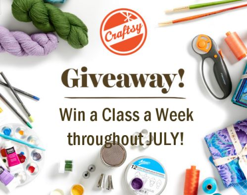 Craftsy July Giveaway