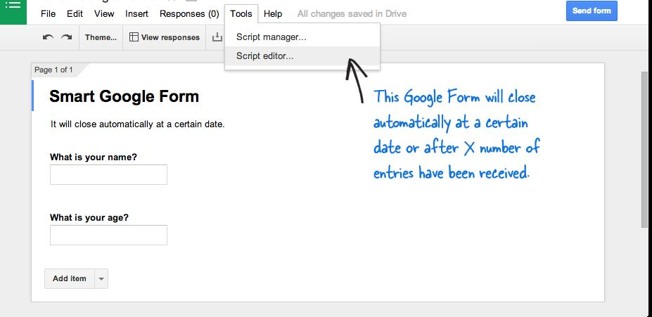 How to Schedule Your Google Forms and Limit Submissions ~ Way2Trick