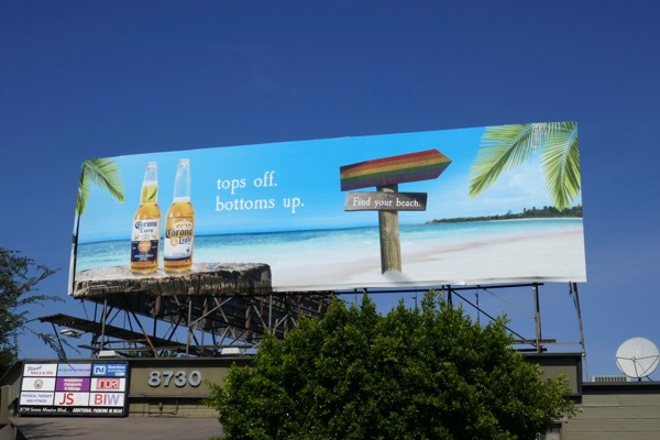 Corona Tops off Bottoms up Pride billboard