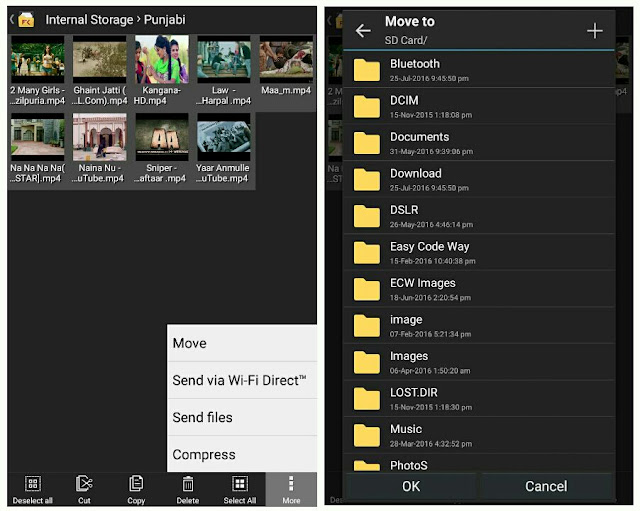 Move files to SD card via File Manager