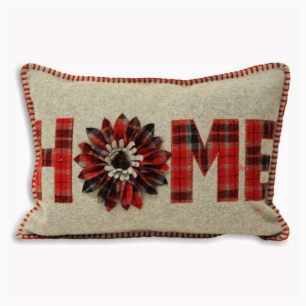 "ACHICA ""Home"" checked cushion"
