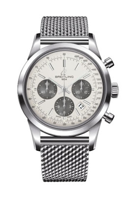 Breitling B01 Transocean Chronograph in Stainless Steel