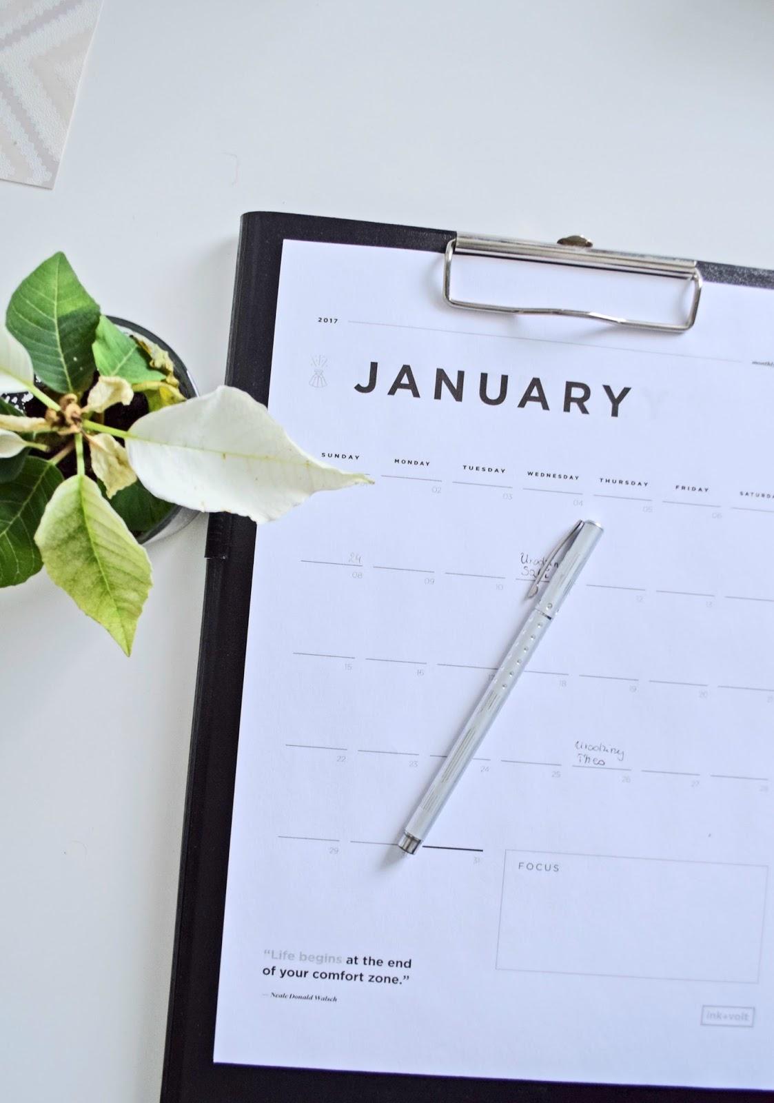 Kalendarz na 2017 rok