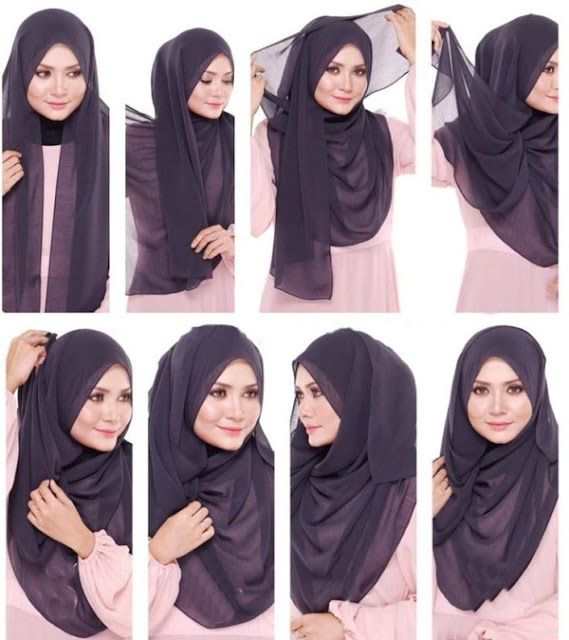 Cara Memakai Hijab Pashmina Simple dan Hits Terbaru 2018