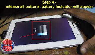 Indikator charging tablet samsung