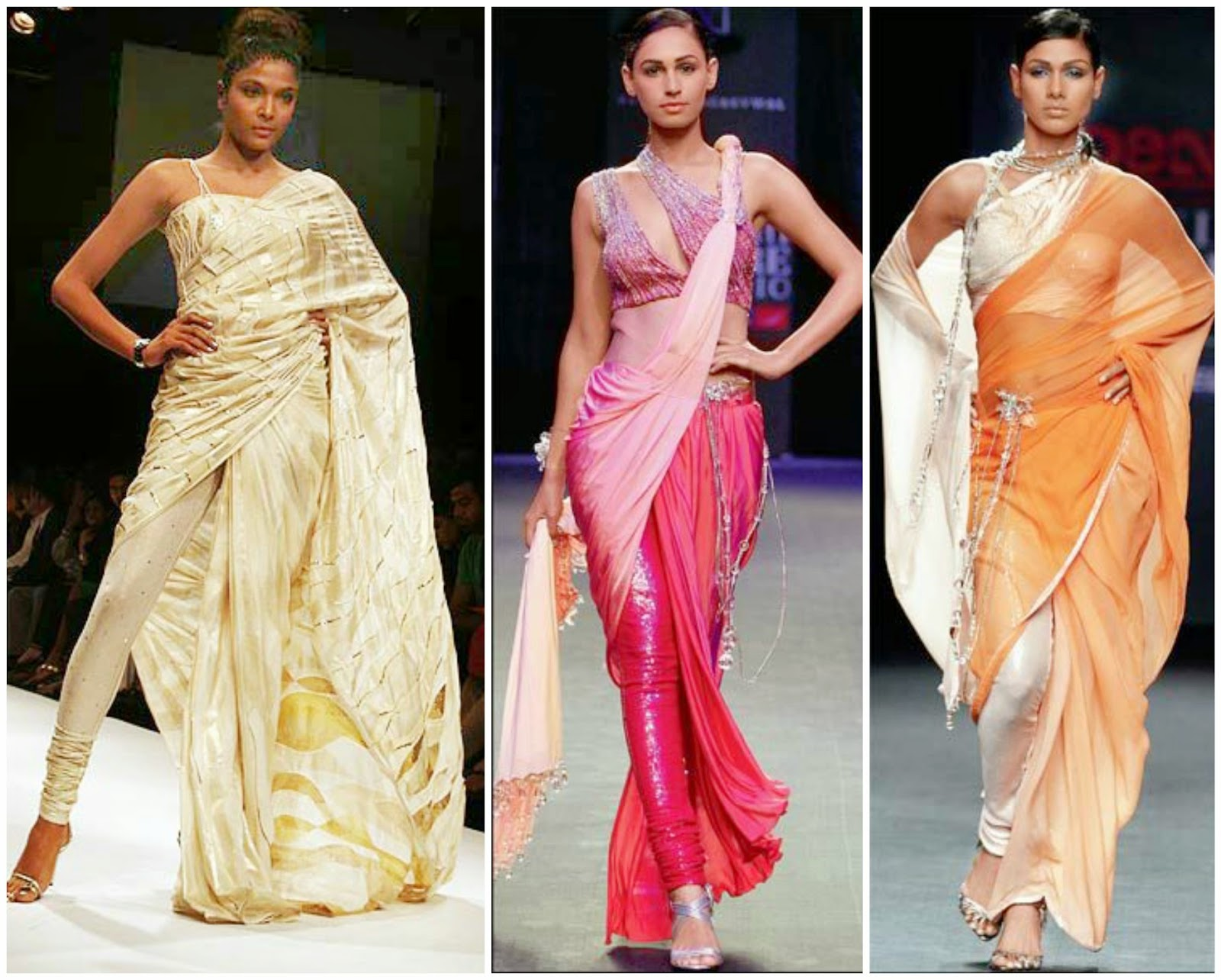 Different hairstyles to try with sarees - Pant Style Saree Drape
