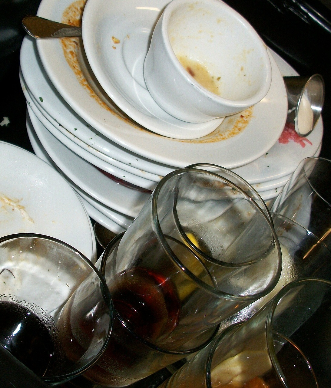 Dirty dishes.