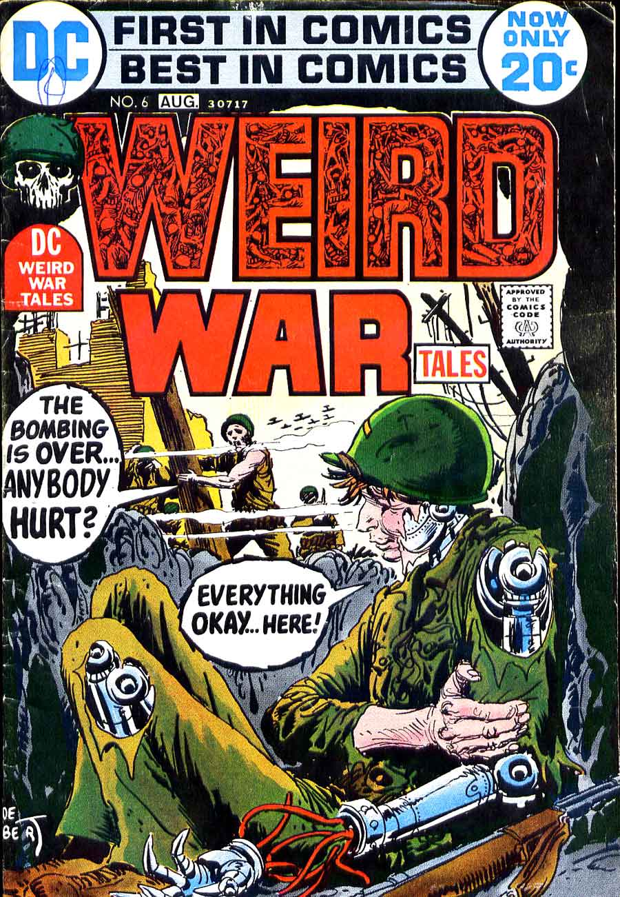 Weird War Tales v1 #6 dc bronze age comic book cover art by Joe Kubert