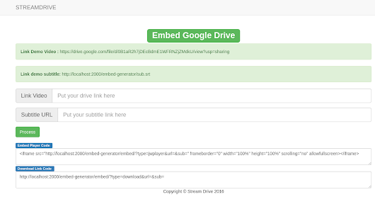 Download Source Code Embed Generator Google Drive
