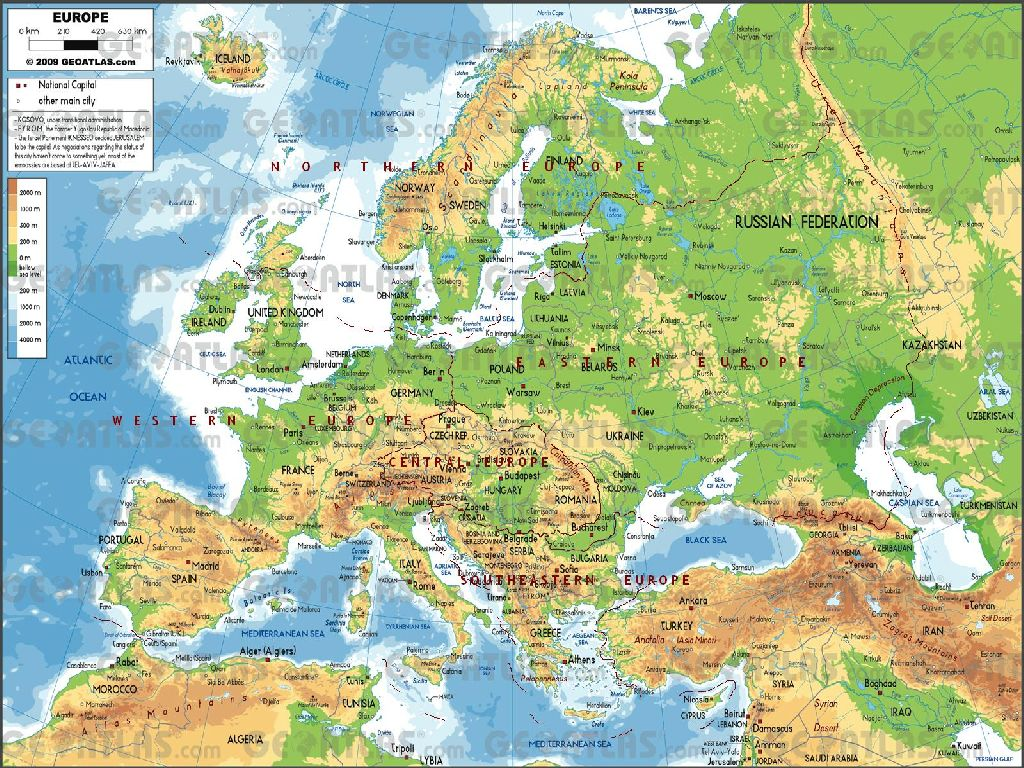 geography europe map