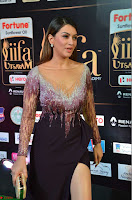 Hansika Motwani in Glittering Deep Neck Transparent Leg Split Purple Gown at IIFA Utsavam Awards 20.JPG