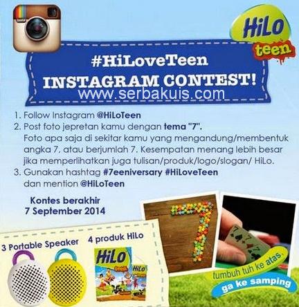 Kontes Foto Instagram #HiLoveTeen Berhadiah 3 Portable Speaker
