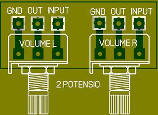 Cara membuat volume di power amplifier