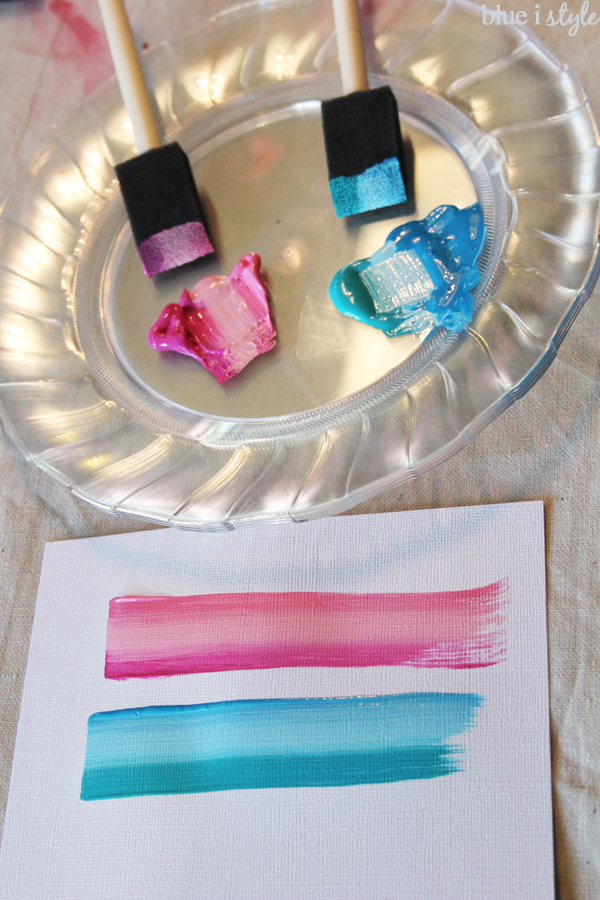 Painting with foam brushes
