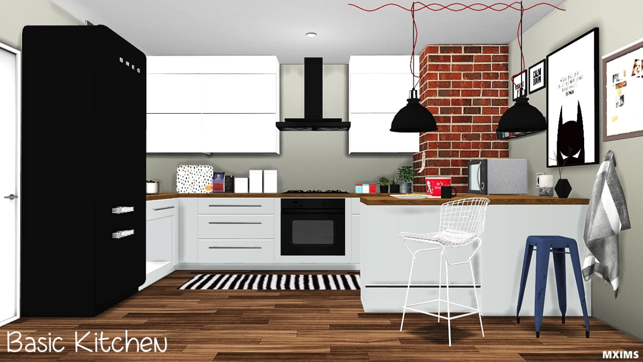 My sims 4 blog basic kitchen set by mxims for Kitchen set sims 4